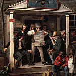 part 2 American painters - Richard Caton Woodville (1825-1855) - War News from Mexico (1848 Crystal Bridges Museum of American Art)
