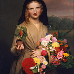 part 2 American painters - Charles Cromwell Ingham (1796-1863) - The Flower Girl (1846 The Metropolitan Museum of Art)