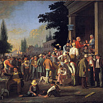 part 2 American painters - George Caleb Bingham (1811-1879) - The County Election (1851-52 Saint Louis Art Museum)