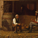part 2 American painters - Enoch Wood Perry (1831-1915) - Talking it Over (1872 The Metropolitan Museum of Art)