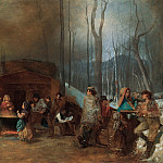 Eastman Johnson – Sugaring Off , part 2 American painters