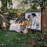 part 2 American painters - William Merritt Chase (1849-1916) - The Open Air Breakfast (ca. 1887 Toledo Museum of Art)