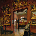 Frank Waller – Interior View of The Metropolitan Museum of Art when in Fourteenth Street , part 2 American painters