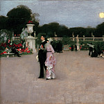 In the Luxembourg Gardens (1879 Philadelphia Museum of Art), John Singer Sargent