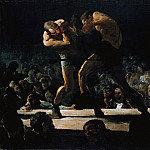 part 2 American painters - George Bellows (1882-1925) - Club Night (1907 National Gallery of Art)