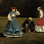 Croquet Scene (1866 The Art Institute of Chicago), Winslow Homer