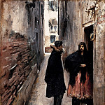 part 2 American painters - John Singer Sargent (1856-1925) - A Street in Venice (ca. 1880-82 Sterling and Francine Clark Art Institute)