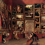 Samuel F. B. Morse – Gallery of the Louvre, 1831-33 , part 2 American painters