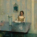 part 2 American painters - Thomas Wilmer Dewing (1851-1938) - A Reading (1897 Smithsonian American Art Museum)
