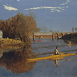 part 2 American painters - Thomas Eakins (1844-1916) - The Champion Single Sculls (Max Schmitt in a Single Scull) (1871 The Metropolitan Museum of Art)