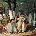 part 2 American painters - John Sloan (1871-1951) - The Picnic Grounds (1906-7 Whitney Museum of American Art)