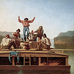 part 2 American painters - George Caleb Bingham (1811-1879) - The Jolly Flatboatmen (1846 Manoogian Collection)