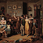 John Lewis Krimmel – The Quilting Frolic, 1813 , part 2 American painters