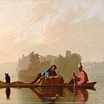 George Caleb Bingham – Fur Traders Descending the Missouri , part 2 American painters
