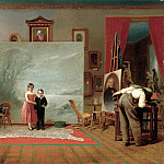 part 2 American painters - Thomas Le Clear (1818-1882) - Interior with Portraits (ca. 1865 Smithsonian American Art Museum)