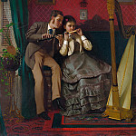 part 2 American painters - John George Brown (1831-1913) - The Music Lesson (1870 The Metropolitan Museum of Art)