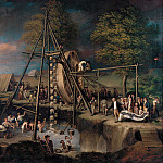part 2 American painters - Charles Willson Peale (1741-1827) - The Exhumation of the Mastodon, 1805-8 (Maryland Historical Society)