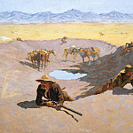part 2 American painters - Frederic Remington (1861-1909) - Fight for the Water Hole (1903 The Museum of Fine Arts)