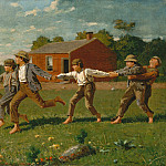 part 2 American painters - Winslow Homer (1836-1910) - Snap the Whip (1872 The Metropolitan Museum of Art)