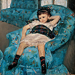 Little Girl in a Blue Armchair (1878 National Gallery of Art), Mary Cassatt