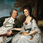 part 2 American painters - Charles Willson Peale (1741-1827) - Benjamin and Eleanor Ridgely Laming, 1788 (National Gallery of Art, Washington, D. C.)
