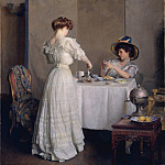 William McGregor Paxton – Tea Leaves , part 2 American painters
