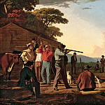 George Caleb Bingham – Shooting for the Beef , part 2 American painters