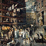 part 2 American painters - George Bellows (1882-1925) - Cliff Dwellers (1913 Los Angeles County Museum of Art)