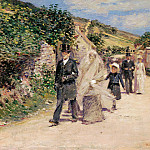 part 2 American painters - Theodore Robinson (1852-1896) - The Wedding March (1892 Terra Foundation for American Art)