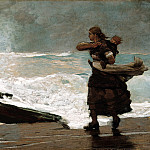 The Gale (1883-93 Worcester Art Museum), Winslow Homer