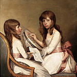 part 2 American painters - Gilbert Stuart (American, (1755-1828) - Anna Dorothea Foster and Charlotte Anna Dick, 1790-91 (Private Collection)