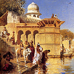 Weeks Edwin Along The Ghats Mathura, Edwin Longsden Long