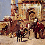 Weeks Edwin Before A Mosque 1883, Edwin Lord Weeks