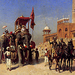 Weeks Edwin Great Mogul And His Court Returning From The Great Mosque At Delhi India, Edwin Lord Weeks