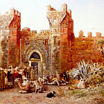 Weeks Edwin Lord The Departure Of A Caravan From The Gate Of Shelah Morocco, Edwin Lord Weeks