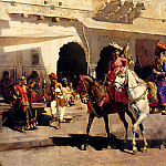 Weeks Edwin Leaving For The Hunt At Gwalior 1887, Edwin Lord Weeks