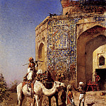 Weeks Edwin Old Blue Tiled Mosque Outside Of Delhi India, Edwin Lord Weeks