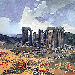 Karl Pavlovich Bryullov - Temple of Apollo Epikourios in Figalii. 1,835
