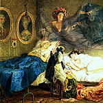 Sleep grandmothers and granddaughters. 1829, Karl Pavlovich Bryullov