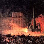 Political demonstration in Rome in 1846. 1850, Karl Pavlovich Bryullov