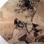 Greek lying on a rock. 1,835, Karl Pavlovich Bryullov