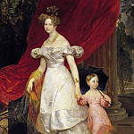 Karl Pavlovich Bryullov - Portrait conducted. book. Elena Pavlovna with her daughter Maria.