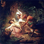 Karl Pavlovich Bryullov - Diana, Endymion and satire. 1849