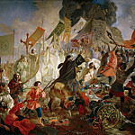 Siege of Pskov Polish King Stephen Bathory in 1581., Karl Pavlovich Bryullov