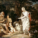 Karl Pavlovich Bryullov - Erminia among the shepherds. 1824