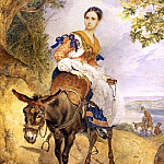 Olga queens on a donkey. 1,835, Karl Pavlovich Bryullov