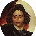 Portrait of Baroness II Klodt, wife of sculptor PK Klodt. Around 1839, Karl Pavlovich Bryullov
