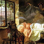 Dream of a young girl before dawn. 1830-1833, Karl Pavlovich Bryullov