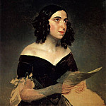 Karl Pavlovich Bryullov - Portrait of the Singer AY Petrova. 1841