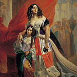 Karl Pavlovich Bryullov - Portrait of Countess Julia Samoilova, moving away from the ball with the stepdaughter Amatsiliey Pachchini.